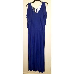 Apt. 9 Cobalt Blue Maxi Dress XL Long Elegant